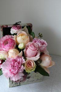 elegant flowers in a box